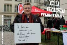 Aktion auf dem Uniplatz am 18.03.2014. Kooperation mit der Heinrich-Böll-Stiftung Sachsen-Anhalt, dem Landesfrauenrat, dem Frauenzentrum Weiberwirtschaft, der AIDS-Hilfe und der Hans Böckler Stiftung.